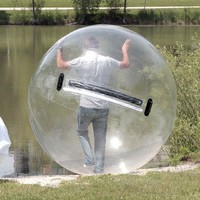 Inflatable Water Walking Ball Zorb Pool Human Hamster TIZIP With Air Blower NEW