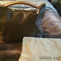 Louis Vuitton Sully MM Hobo Handbag Shoulder Bag