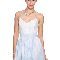 Foreign Exchange :: WOMEN :: CLOUDY SKIES LACE STRAP DRESS