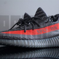 Adidas YEEZY BOOST 350 V2 5 6 7 8 9 10 11 12 BELUGA GREY ORANGE boost nmd ultra