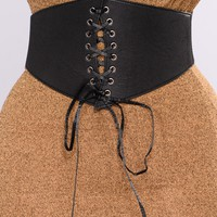 Call On Me Corset Belt - Black