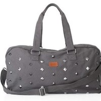 Victoria's Secret Pink Studded Duffle Carry On Bag Luggage