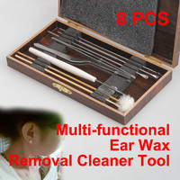 New Multifunction Set of 8 Ear Pick Ear Wax Removal Cleaner Beauty Tool Kit