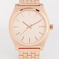 Nixon | Nixon Time Teller Rose Gold Watch at ASOS