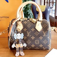 Hipgirls Louis Vuitton LV Fashion New Monogram Leather Shopping Leisure Shoulder Bag Handbag Crossbody Bag