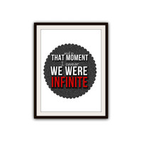 Perks of Being a Wallflower Infinite Quote Typography Poster