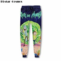 PLstar Cosmos Fashion For Men/Women Baggy Jogger Pants 3D Print Rick and Morty Cartoon Sweatpants Hip Hop Trousers