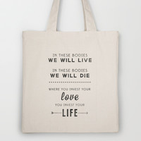 MUMFORD AND SONS Tote Bag by natalie sales