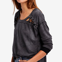 Free People First Love Lace-Up Top | macys.com