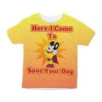 HERE I COME TO SAVE YOU TODDLER ALL OVER PRINT TEE