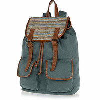 Green woven panel backpack - backpacks - bags / wallets - men