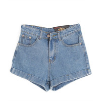 Chicnova Fashion High Waist Denim Shorts
