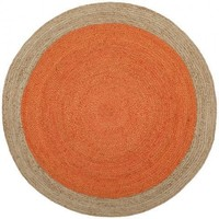 Safavieh Natural Fiber NF801B Orange / Natural Rug