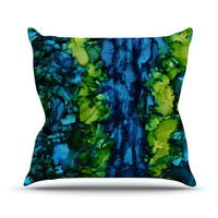 """Claire Day """"Drops"""" Green Throw Pillow, 16"""" x 16"""" - Outlet Item"""