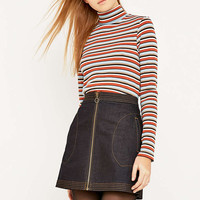 Urban Outfitters Striped Ribbed Turtleneck Jumper - Urban Outfitters
