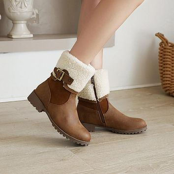 Women's Buckle Belt High Heeled Ankle Boots