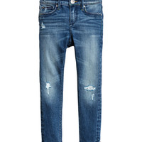 Skinny fit Worn Jeans - from H&M