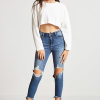 Rib-Stitched High-Low Top