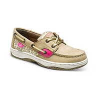 Sperry Top-Sider Girls' Bluefish Boat Shoes - Linen/Pink