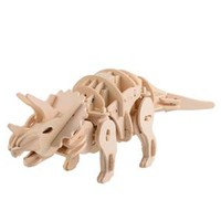Qaba Wooden 3D Puzzle – Triceratops