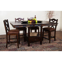 Sunny Designs Santa Fe Collection Five Piece Dining Set In Dark Chocolate 1177DC