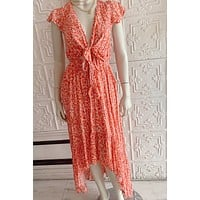 P&M Orange Hi-Lo Pocket Dress