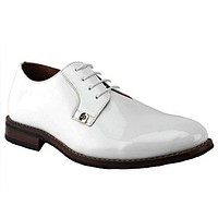 Delli Aldo Men's 19517PL Patent Derby Lace Up Formal Tuxedo Oxford Dress Shoes