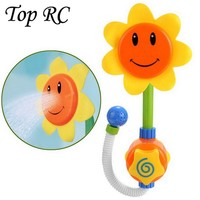 2016 toys new Baby Bath Toys Sunflower Shower Toy Pool Swimming Beach Water Baby Bath Toy Children Kids