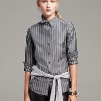 Fitted Non-Iron Bold Stripe Shirt