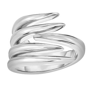Sterling Silver Fancy Graduated Vine Ring, Size 7