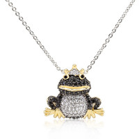 CZ Frog Prince Pendant Necklace