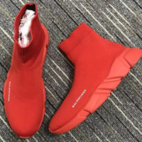 Unisex Red Balenciaga Classic Woman Men Fashion Breathable Sneakers Running Shoes