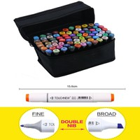 TOUCHNEW 30 40 60 80 Colors Set Artist Dual Head Sketch Copic Markers Set For School Drawing Sketch Marker Pen Design Supplies