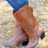 She's Gone Country Boots - Cognac