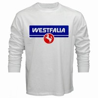 WESTFALIA VW LOGO VOLKSWAGEN T-SHIRT MEN WHITE COTTON TSHIRT LONG SLEEVED S -2XL