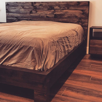 "100 OFF Presidents Day Sale...Rustic Wood Bed Frame & Headboard ""Rengency"" from the San Saba Collection(prices already adjusted)"