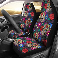Sugar Skull Pattern Car Seat Cover