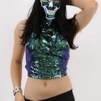 Skull Rave Mask With Matching Tank