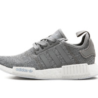 Adidas NMD R1 3M Reflective shoelace Fashion Trending Running Sports Shoes NMD RUNNER PK Color Grey