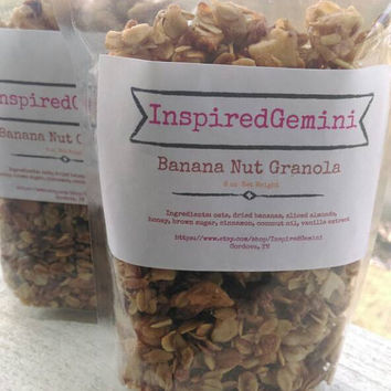 Honey Banana-Nut Granola | Vegan Friendly | Cereal | Snack | Parfait