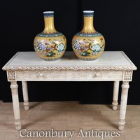 Canonbury - Chinese Hand Carved Library Table Bone Desk