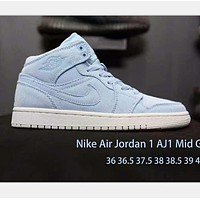 NIKE Air Jordan high-tops sports shoes blue H-ZH-KHMDXDKH