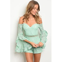 Womens Lace Romper