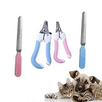 Portable Cat Nail Clipper Nail File Puppy Dog Cats Toe Care Tools Cat Grooming Supplies