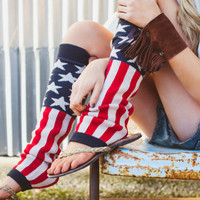 American Flag Leg Warmers 4th of July Fashion Accessories Stars and Stripes Patriotic Leg Ware Soft Old Glory Leg Warmers