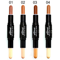 Face Foundation Creamy Double-ended 2 in1 Contour Stick Brand Eye Concealer Stick Facial Makeup Mineral Contour Concealer ZHB-2#