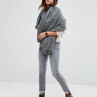 ASOS Oversized Square Woven Scarf In Two Tone at asos.com