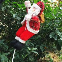 Hanging Plush Climbing Santa Christmas Tree Decoration Hanging Ornament = 1715211076
