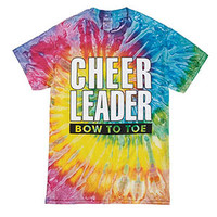Cheerleader Bow to Toe Tie Dye T-shirt