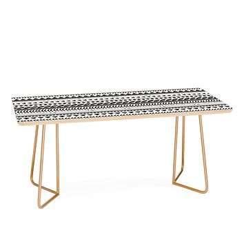 Allyson Johnson Black And White Aztec Pattern Coffee Table